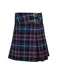 """Ladies Knee Length Kilt Skirt 20"""" Length Tartan Pleated Kilts - Pride Of Scotland"""
