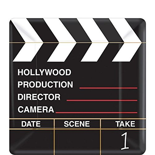 Movie Night Hollywood Themed Party Director's Cut Clapper Dessert Plates Tableware, Paper, 7