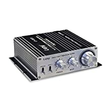Mini Hi-Fi Stereo Power Amplifier, 50W x 2 RMS Class-T Digital Audio Amplifier for Auto Car/Boat/Motorcycle/Home Usage