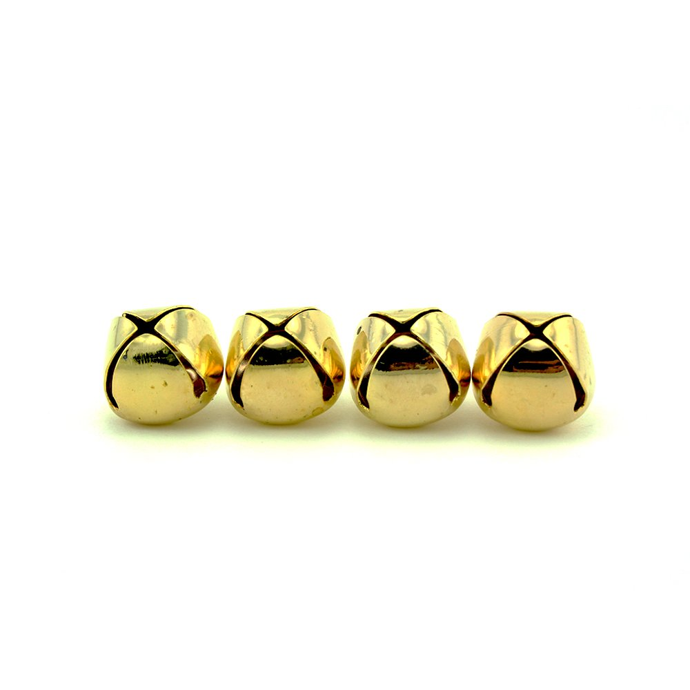 1 Inch 25mm Large Gold Craft Jingle Bells Charms 48 Pieces