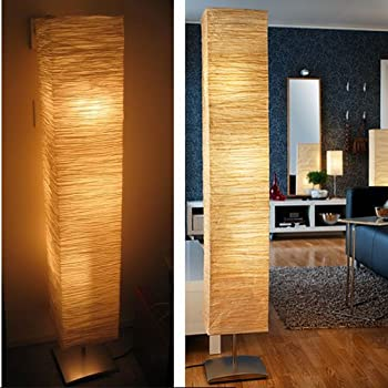 Labellevie 52 floor lamp rice paper shade asian with 2 cfl bulbs modern rice paper shade asian floor mood lamp 3 warm led bulbs are included aloadofball Images