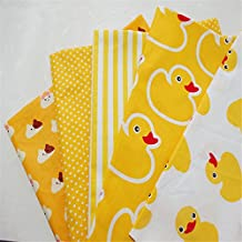 FUYA 4pieces40cmx50cm Duck Cartoon Cotton Fabric Tissue For Needlework Sewing Material Hometextile For Sheets Dress Cushion Doll Bags
