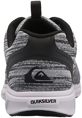 Quiksilver Men's Grey Textile Voyage Black White Sneaker rrOPq