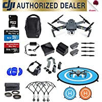 DJI Mavic Pro - Fly More Combo - 4K Quadcopter Camera 3 Battery Full Accessory Fly Pro Bundle Package Deal