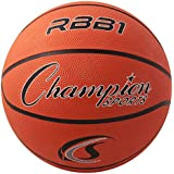 """Champion Sports Official Heavy Duty Rubber Cover Nylon Basketballs, Official (Size 7 - 29.5""""), Orange"""