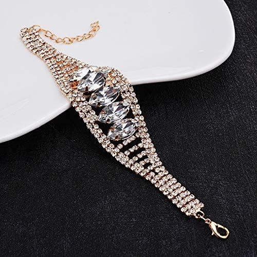 Chennnnnn Accesorios Exagerados Europeos Y Americanos, Pulsera Sparkling Diamond