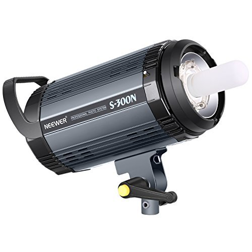 Neewer S300N Professional Studio Monolight Strobe Flash Light-300W 5600K with Modeling Lamp,Aluminium Alloy Professional Speedlite for Indoor Studio Location Model Photography and Portrait Photography by Neewer (Image #1)