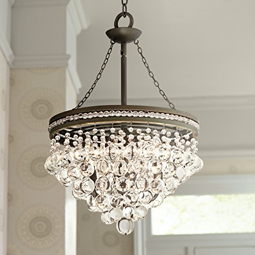 Regina olive bronze 19 wide crystal chandelier amazon aloadofball Image collections
