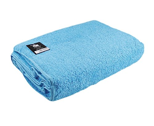 The House Of Emily Massive/Huge/Extra Large 100% Turkish Cotton Bath Sheet/Beach Towel - 60 x 80 Inch - Aqua by The House Of Emily (Image #1)