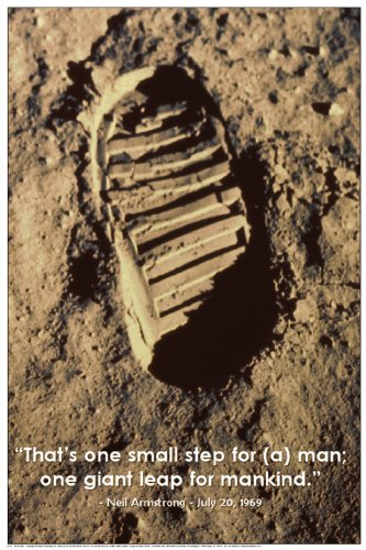One Small Step Moon Landing Poster