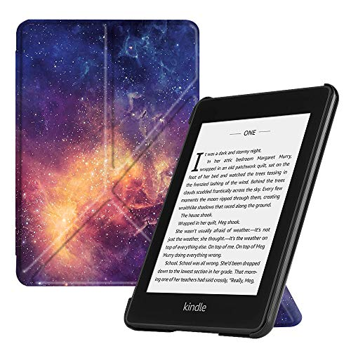 Fintie Origami Case for All-New Kindle Paperwhite (10th Generation, 2018 Release) - Slim Fit Stand Cover Support Hands Free Reading with Auto Sleep/Wake for Amazon Kindle Paperwhite E-Reader, Galaxy ()