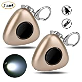 Personal Safety Alarm, 2 Pack 120 dB Security Alarm with LED Flashlight for Women Kids Student Elder Adventurer – SOS Emergency Self Defense Alarm Keychain Electronic Device (Batteries Included)