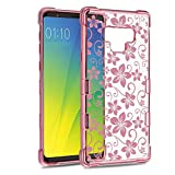 Galaxy Note 9 Case, ATUS Hibiscus Flower Protective Slim TPU Case with Rose Gold Plating, Clear (Rosegold/Clear) Review
