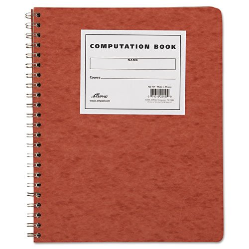 5 X Ampad Computation Book, 4x4 Quad Ruled, 76 Sheets, Ivory, 11-3/4'' x 9-1/4'', Sold as 5 Pack (22-157)