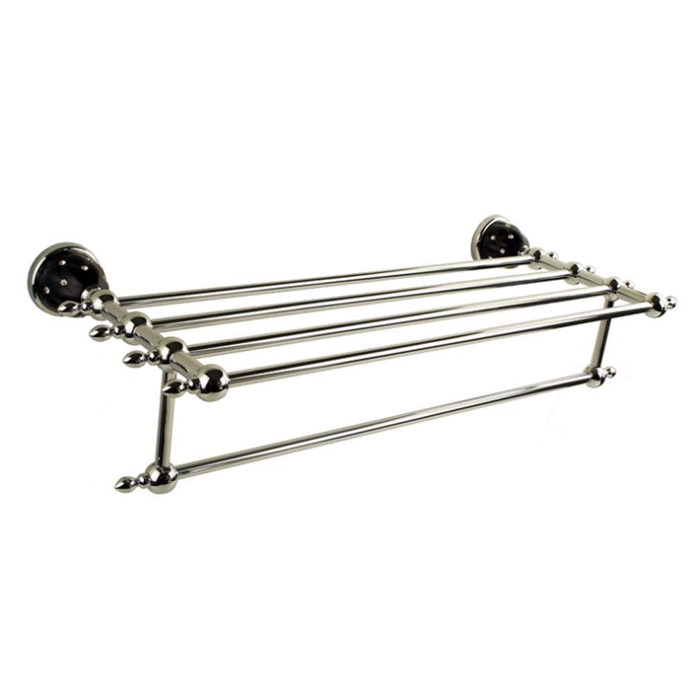 CEFULTY Double and Double Zinc Alloy Stainless Steel Bathroom Hanger Rack (Color : Silver)