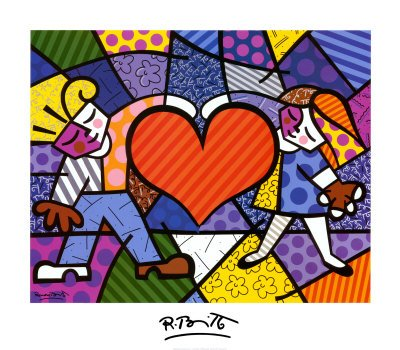 Heart Kids Art Poster Print by Romero Britto
