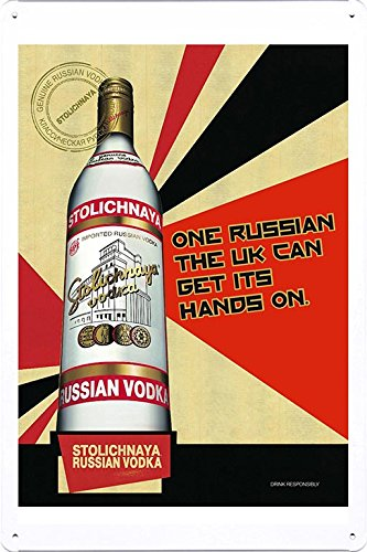 tin-sign-metal-poster-plate-8x12-of-stolichnaya-vodka-hands-on-by-food-beverage-decor-sign