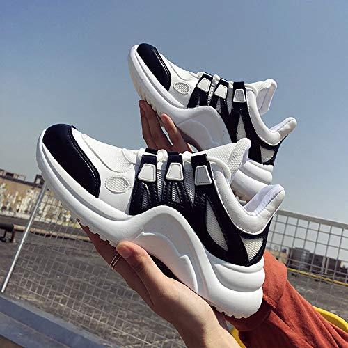 de Cordones Alta Transpirable Casuales Mujeres Zapatos GUNAINDMX Vulcanizar de Zapatillas Las de Black Calzado Femenina Suave de con Ocio Malla de Moda pHwxaO