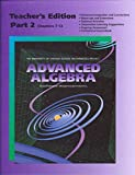 img - for UCSMP Advanced Algebra - Teacher's Edition Part 2 (University of Chicago School Mathematics Project) book / textbook / text book