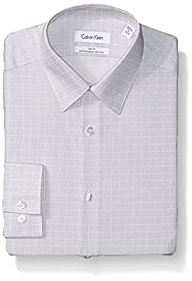 Calvin Klein Men's Slim Fit Non Iron Printed Check