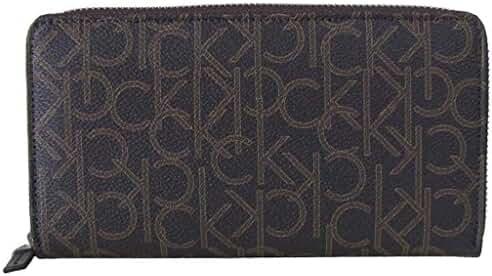 Calvin Klein CK Logo Printed Zip Continental Long Wallet 79468