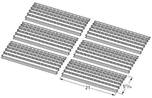New BBQ Tools Gas Grill Steel Heat Plate 94091 for Viking - 6 Pack