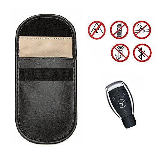 Paquete de 2 llaves para el coche Bloqueador de señales de la caja Qutaway Fob Guardia Bloqueo de la señal Bolsa Entrada sin teclas Dispositivos de bloqueo antirrobo Bolsa de protección de la privacid One Piece