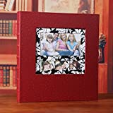 Interchangeable plastic 6 inch leather cover album album album / family growth baby large capacity album ( Color : Red )