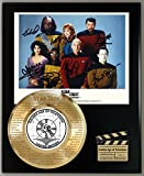 #5: STAR TREK NEXT GENERATION LIMITED EDITION SIGNATURE AND LASER ETCHED THEME SONG LYRICS DISPLAY