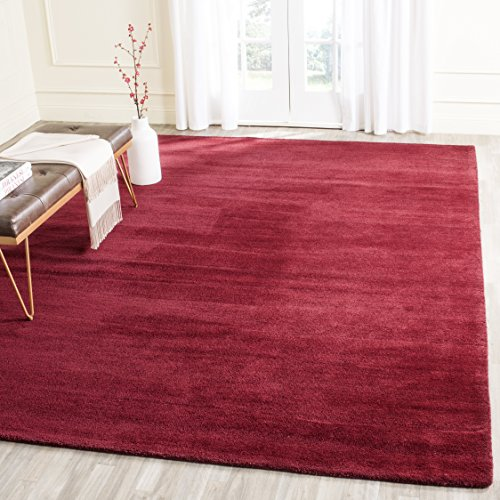 Safavieh Himalaya Collection HIM610G Handmade Red Premium Wool Area Rug (8′ x 10′)