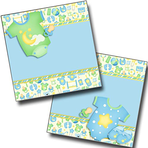 Baby Boy Gear NPM - Premade Scrapbook Pages - EZ Layout 3801