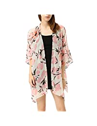 Women Coat,Coromose Young Girls Floral Summer Beach Kimono Cover-up Cardigan