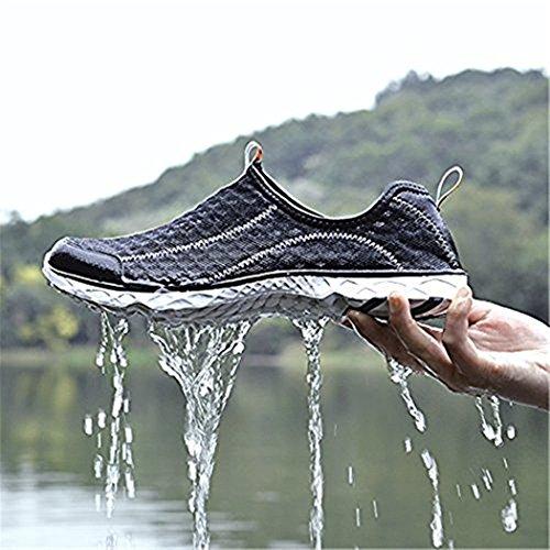 Playa Calzado Agua Escarpines Surf Zapatos Zapato Dogeek Antideslizante De 2 Black WqHYUxSw