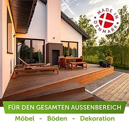 Aceite de madera Nordicare (1 L) para exterior para alerce, roble, teca o madera de acacia I aceite exterior para protección de la madera I aceite de ...