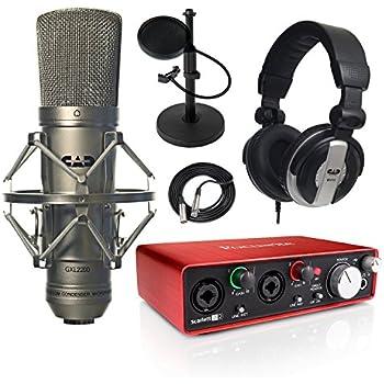 focusrite scarlett 2i2 2nd gen usb audio interface and gxl2200 studio recording. Black Bedroom Furniture Sets. Home Design Ideas