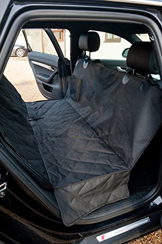 Dog Seat Cover for Cars, Trucks and SUV's - FREE Safety Harness. Universal Fit Waterproof Padded Quilted Easy Install Machine Washable. Premium Bench Cover or Hammock with Seat Anchors.