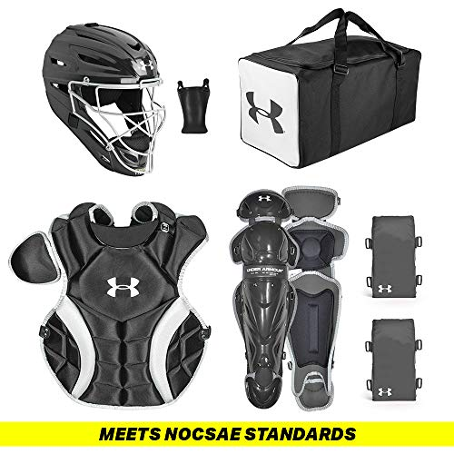 Under Armour PTH Game Ready Catching Kit, Meets NOCSAE, Ages 12-16, Black ()
