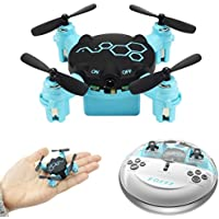 Aurorax Portable RC Toy Drone,FQ777 FQ04 Headless Mode Wide Angle Camera Wifi RTF Quadcopter [Easy to Fly for Beginner] Gift For Kids Friends Lover (Blue)