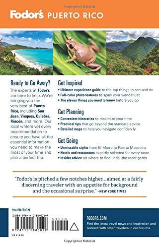 511ZOsJGN L - Fodor's Puerto Rico (Full-color Travel Guide)