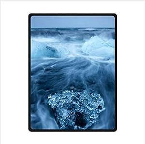 Beauty Of The Ocean Of Blue Ice,The Blue Ice Of Antarctica Custom Fleece Blanket 58 x 80 (Large)
