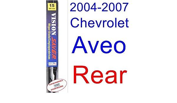 2004 - 2007 Chevrolet Aveo hoja de limpiaparabrisas de repuesto Set/Kit (Saver Automotive products-vision Saver) (2005,2006): Amazon.es: Coche y moto