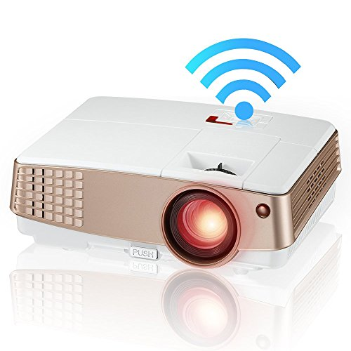 EUG Wireless Pico Projector 1080P LCD Display, Miracast A...