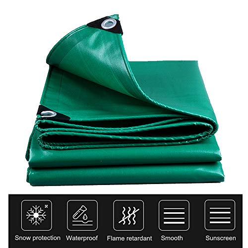 - Nurth Rainproof Flame Retardant Cover Heavy Duty - UV Blocking Protective Cover, with Rope Automobile Tarpaulin with Rustproof Grommets Sunscreen High Temperature Resistance Tarps (9' x 13')