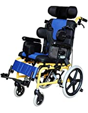 Wheelchair Light Weight Wheelchair Lightweight Medical Ergonomic Half Lying Child Wheelchair Multi-Functional Wheelchair for Cerebral Palsy Children's Wheelchair