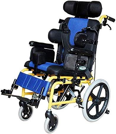 SOAR Silla de Ruedas Plegable Ligera Médico ergonómico La Mitad Niño de Mentira de Ruedas múltiples Funciones de Silla de Ruedas for parálisis Cerebral Infantil del sillón de Ruedas