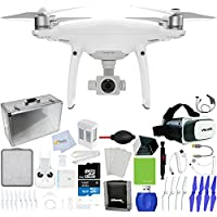 DJI Phantom 4 Pro Quadcopter + Xtreme VR Vue II (For iPhone/Android Screen Size 3.5-6) + Intelligent Flight Battery (5350mAh) + 64GB Micro SD + Hard-Shell Aluminum Case + Car Charger & More!