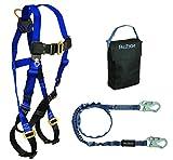 FallTech 9005PS, Starter Kit - 7015 Harness, 8259 SAL, 5005P Gear Bag, Black