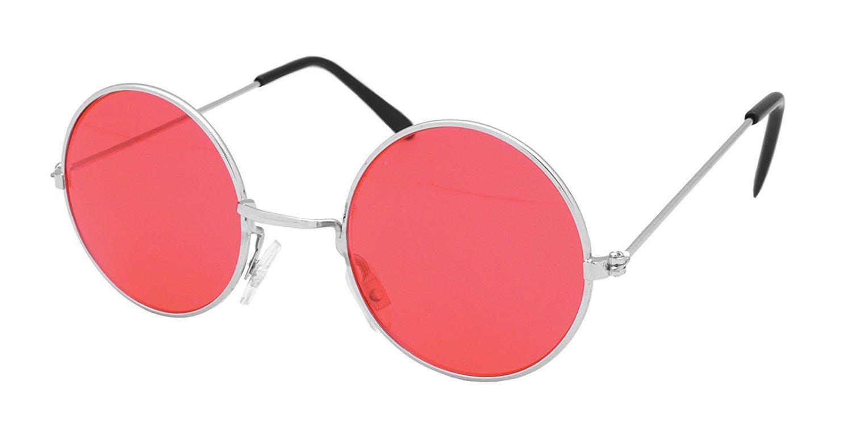 Red Round Lennon Sunglasses