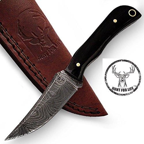 Hunt For Life Jack Rabbit Full Tang Damascus Skinner Knife