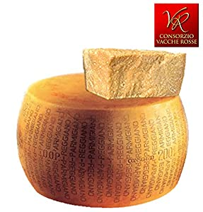 """Parmigiano Reggiano PDO """"Vacche Rosse/Red cows"""" Whole wheel 84 lbs (kg.38), seasoned 24/30 months"""